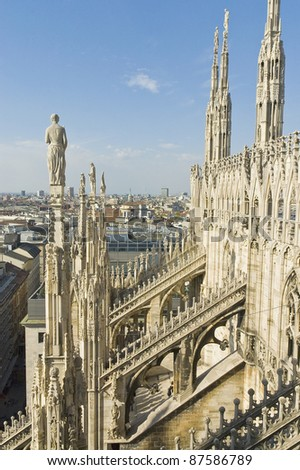 Il Duomo cathedral at Milan, Italy - stock photo