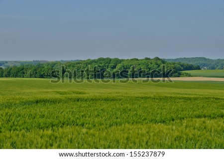 Ile de France, fields by Fremainville
