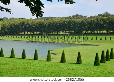 Ile de France, the picturesque park of Marly le Roi  - stock photo
