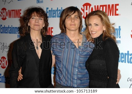 Ilene Chaiken with Daniela Sea and Marlee Matlin at the farewell party for final season of 'The L Word'. Cafe La Boheme, West Hollywood, CA. 03-03-09