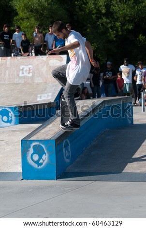 "ILHAVO, PORTUGAL - SEPTEMBER 04: Rafael Pinto ""Rafa"" during the 2nd Stage of the DC Skate Challenge on September 04, 2010 in Ilhavo, Portugal."