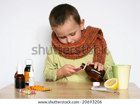 ill child - stock photo