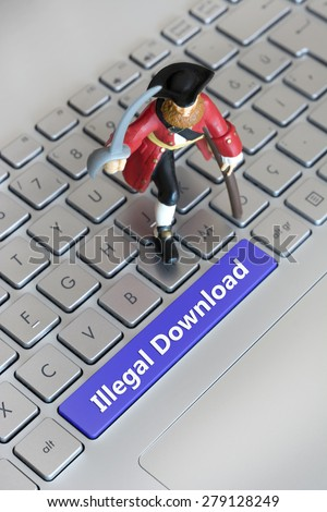 Illegal Download - stock photo