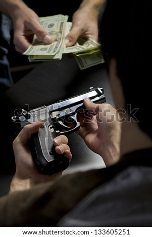 Illegal gun trade - stock photo
