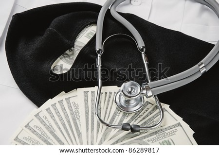 Illegal medical treatment concept - stock photo