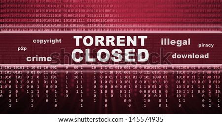 illegal piracy download concept - stock photo