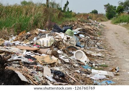 Illegal Roadside Dumping - stock photo