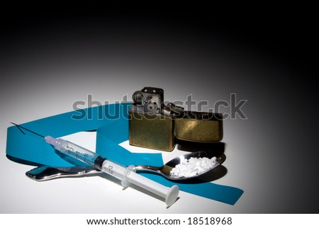 Illegal Street Drugs - stock photo
