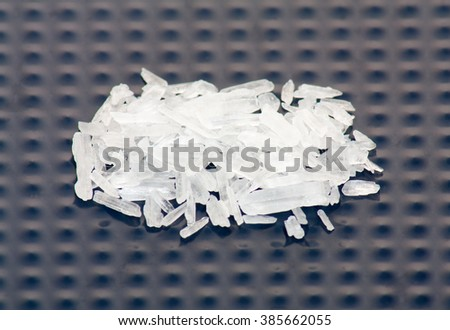 Illegal substance Methamphetamine also known as crystal meth - stock photo