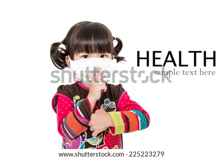 Illness child,Sick child on white background. - stock photo
