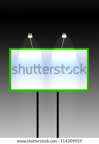 Illuminated billboard - stock photo