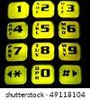 Illuminated cell phone keyboard - stock photo