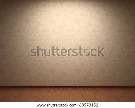 Illuminated fabric wallpaper - stock photo