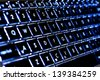 Illuminated Keyboard - stock photo