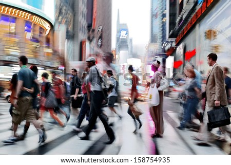 illumination and night life of the city motion blur - stock photo