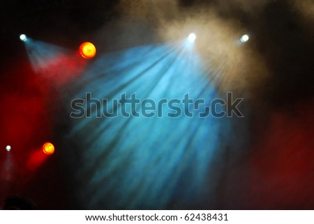 illumination and smoke effect on a concert scene