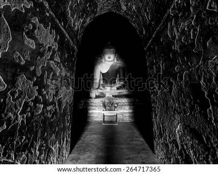 illumination buddha - stock photo