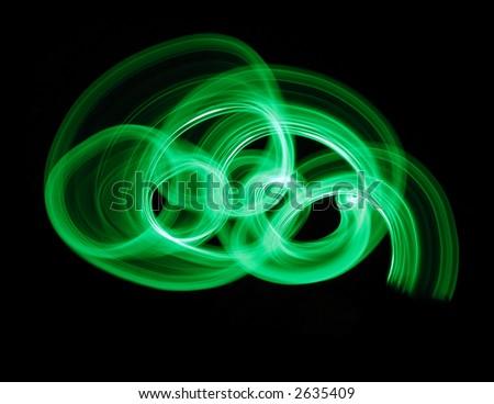 illusion in green - stock photo