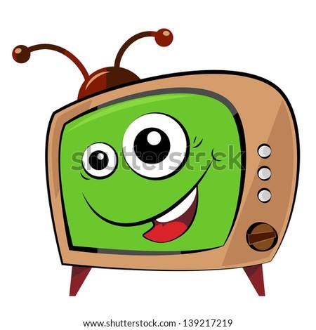 Illustrated funny cartoon tv character. - stock photo