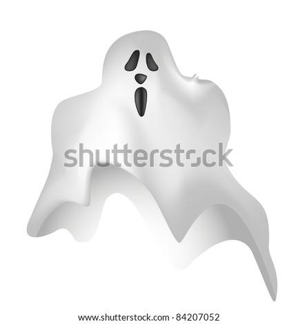 Illustrated ghost cartoon - stock photo