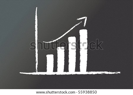 Illustrated graph - stock photo