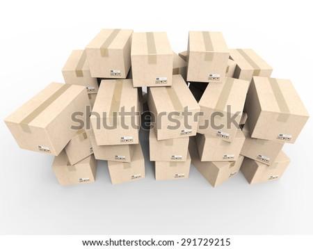 illustrated heap of stockpile - stock photo