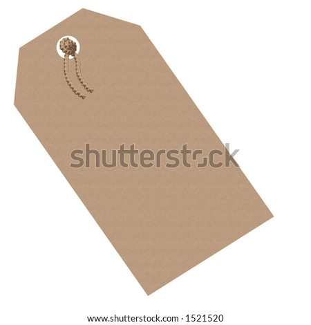 Illustrated paper tag - stock photo