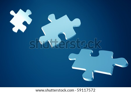 Illustrated puzzles - stock photo
