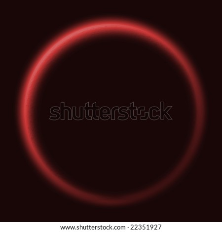 Illustrated version of the sun with an outer glow at a solar eclipse - stock photo