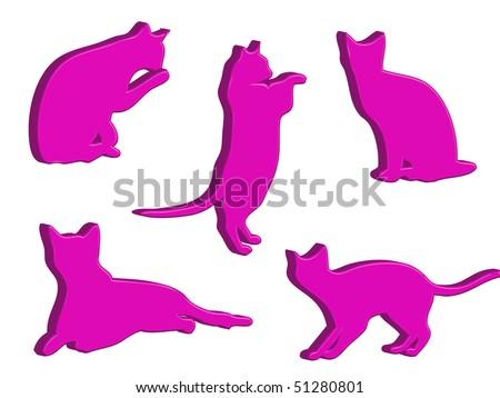 3 vector cats spelling cat stock vector 6496738  shutterstock
