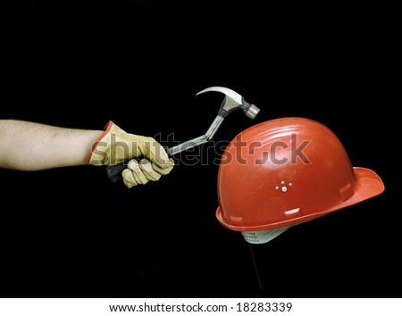 Illustration about safety at work. - stock photo