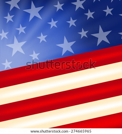 Illustration abstract American Flag for Independence Day - raster - stock photo