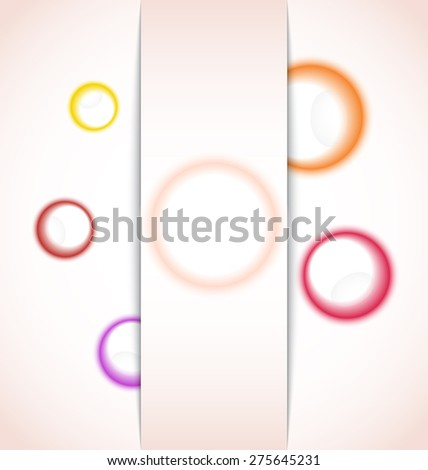 Illustration abstract background with multicolor bubble - raster - stock photo