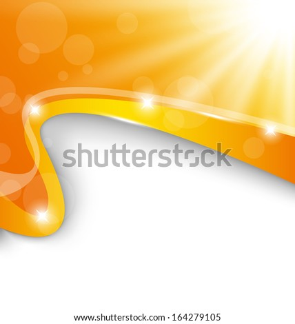 Illustration abstract background with sun light rays - raster  - stock photo