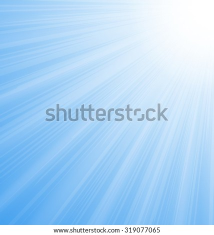 Illustration Abstract Blue Sky Background Sun Rays shine vibrant - raster - stock photo