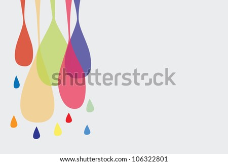 Illustration - Abstract color drop background. - stock photo