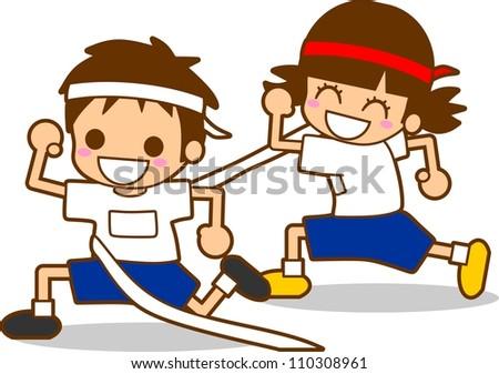 Illustration athletic - stock photo