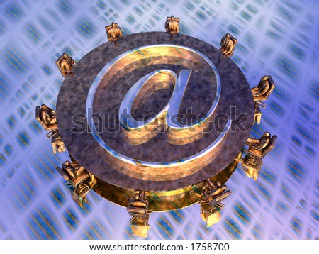 Illustration, background of a virtual mail server, provider. Speed, technology, communication concept. - stock photo