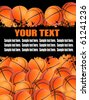 Illustration background with basketball balls. There is a place for your text. - stock vector