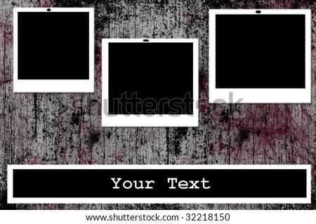 Illustration - Blank photos - stock photo
