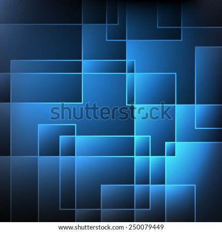 Illustration blue and dark abstract background - stock photo