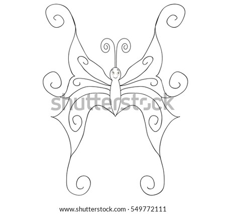 illustration,butterfly outline for coloring