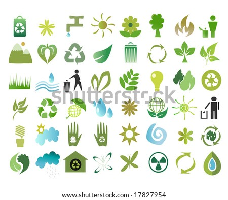 illustration collection of ecological icons