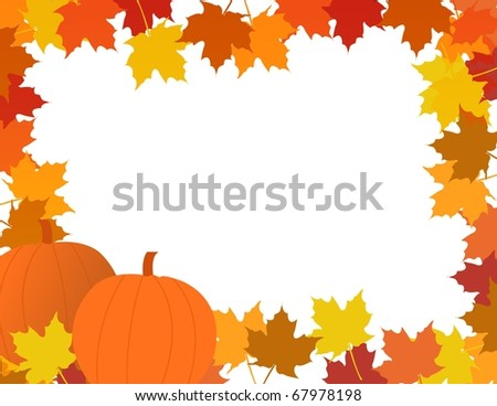 Illustration composition for Thanksgiving invitation or greeting card with 3D text, Happy Thanksgiving