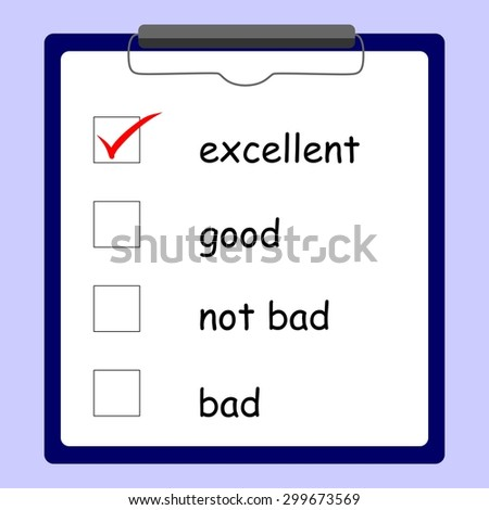 illustration dedicated to the questionnaire and  checkbox. - stock photo