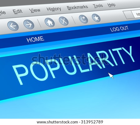 Illustration depicting a computer screen capture with a popularity concept. - stock photo
