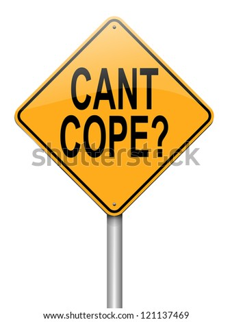 Illustration depicting a roadsign with a cant cope concept. White background. - stock photo