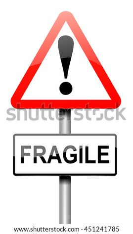 Illustration depicting a sign with a fragile concept. - stock photo