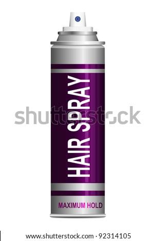 illustration depicting a single hair spray aerosol can