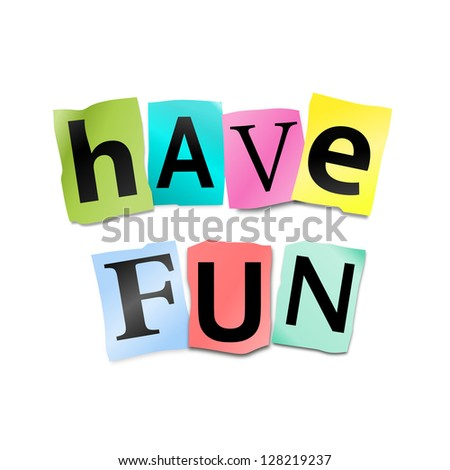 funny 7 letter words illustration depicting cutout printed letters arranged 12730 | stock photo illustration depicting cutout printed letters arranged to form the words have fun 128219237
